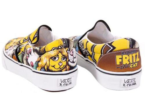 R. Crumb x Vans - Fritz The Cat Slip-Ons - Top View