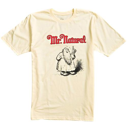 R. Crumb x Vans - Mr. Natural T-Shirt - All Cotton Natural Yellow