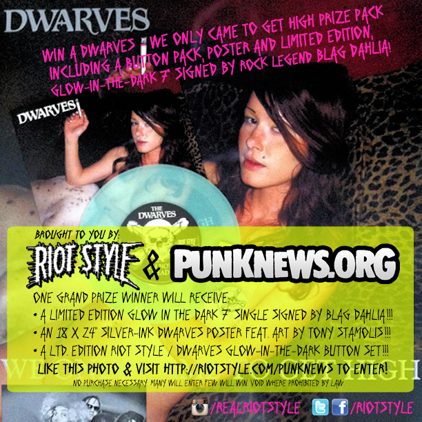 Win Signed Vinyl From The Dwarves!