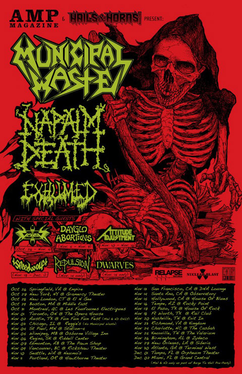 The Dwarves - On Tour With Napalm Death And Municipal Waste