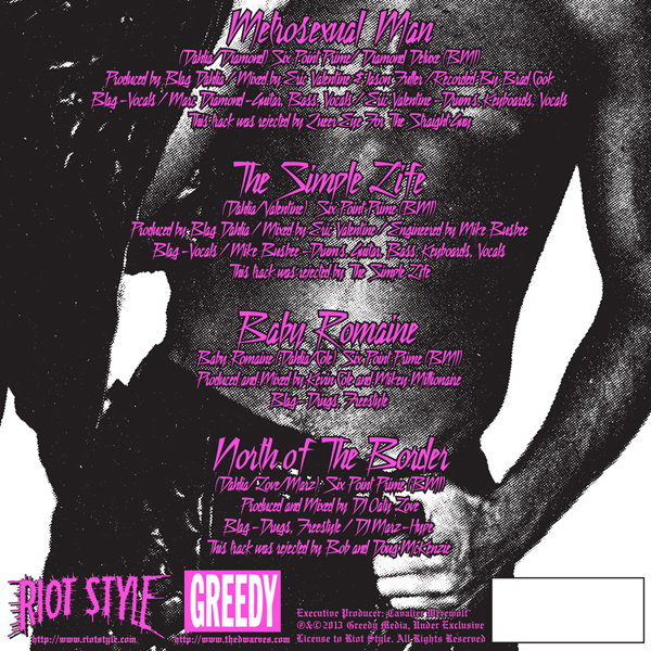 Blag Dahlia - Riot Style - Metrosexual Man - The Dwarves - Back Cover