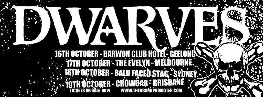 Dwarves Australia Tour Dates 2014