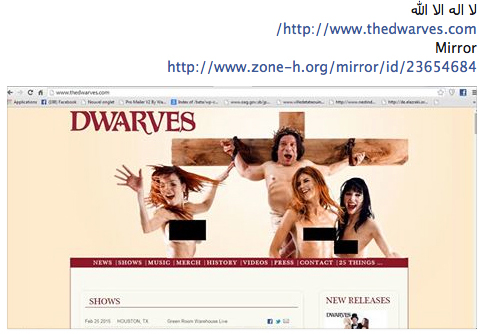 TheDwarves.com Hacked Visit RiotStyle.Com For Tour Dates & Updates!