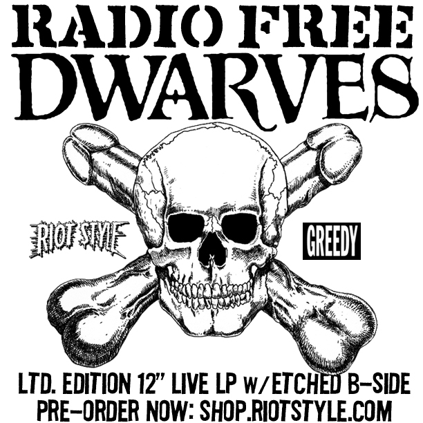 The Dwarves Rock Band Radio Free Dwarves Merchandise Vinyl Records