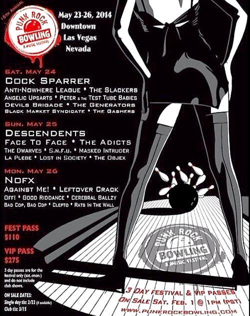 Punk Rock Bowling 2014 - The Dwarves, Descendents, Cocksparrer, Nofx