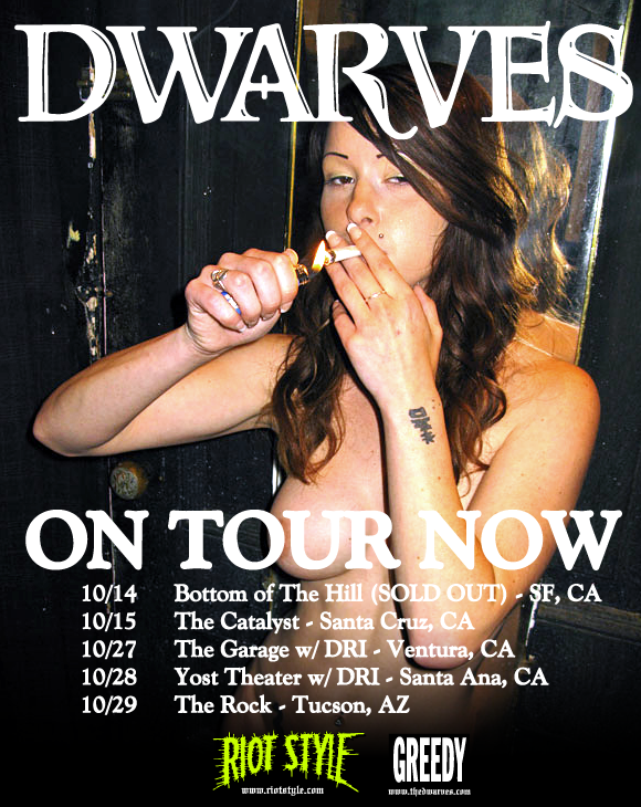 The Dwarves October Tour Dates w/ DRI (Dirty Rotten Imbeciles)