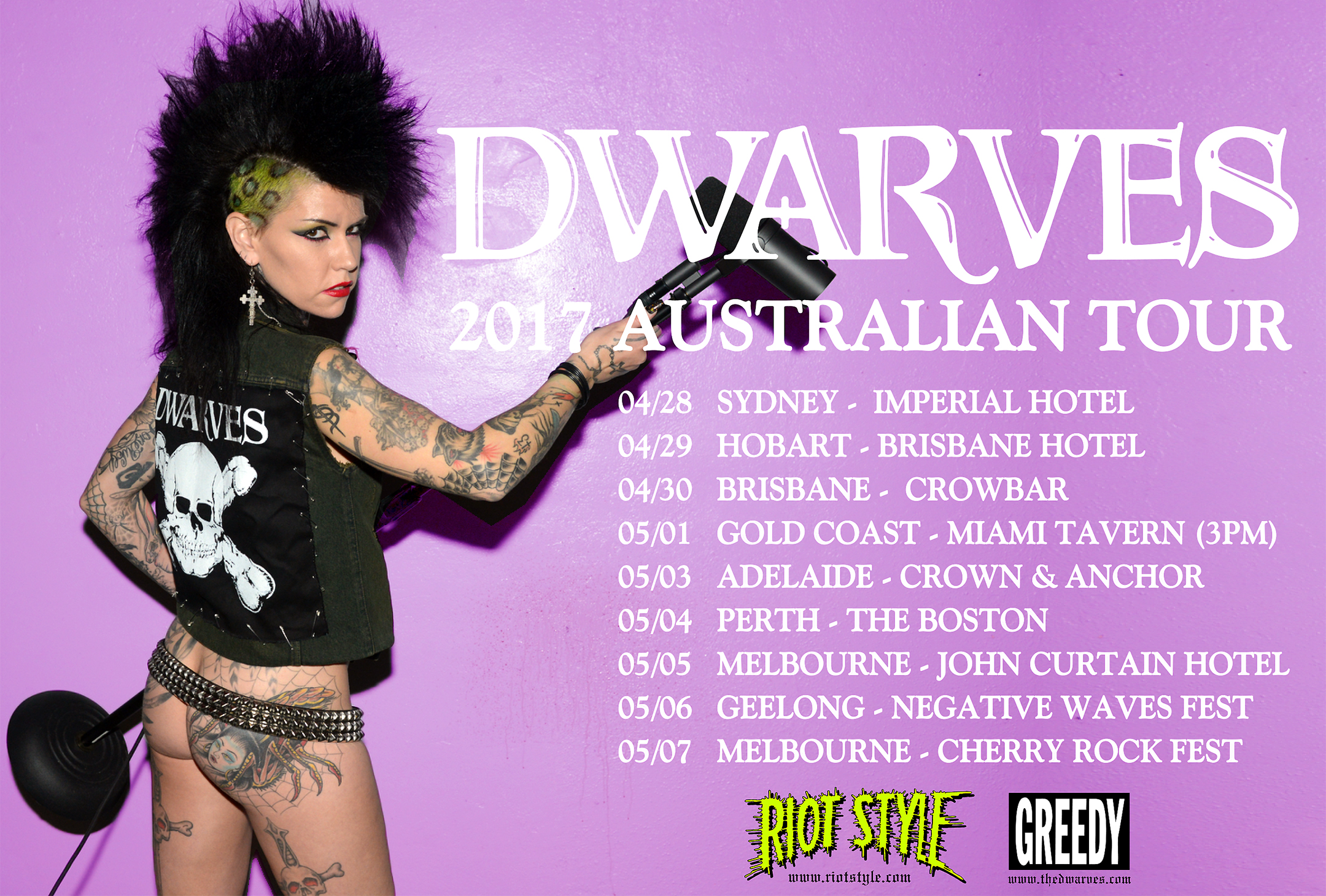 Dwarves Australia Tour Dates 2017