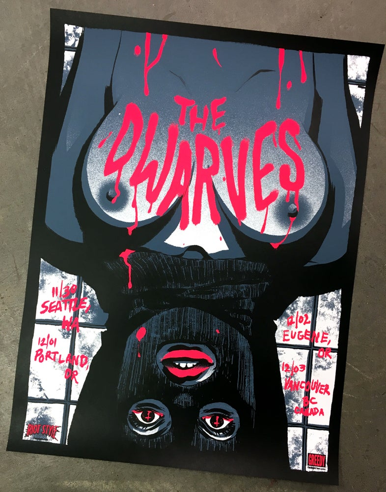 The Dwarves 2016 Pacific North West Tour Poster Becky Cloonan Print Riot Style™